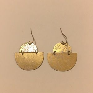 White Flecked Statement Earring